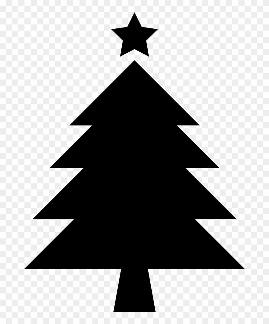 Christmas Tree Clipart Silhouette.Christmas Tree With Star Christmas Tree Silhouette Clipart
