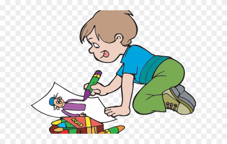 Outside Clipart Outdoor Fun Little Boy Drawing Png Download Full Size Clipart 3511803 Pinclipart