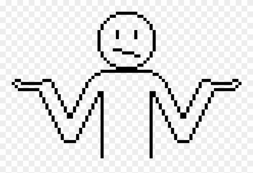 Oh Well Pixel Art Body Template Clipart 3512470 Pinclipart