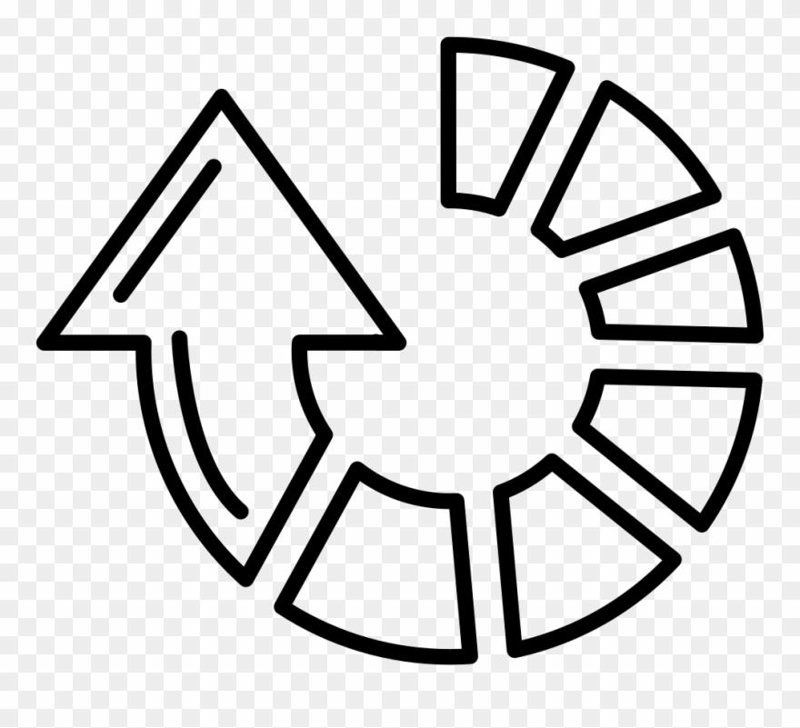Clockwise Circular Arrow Of Gross Broken Outlined Line - Broken Circle Arrow Clipart