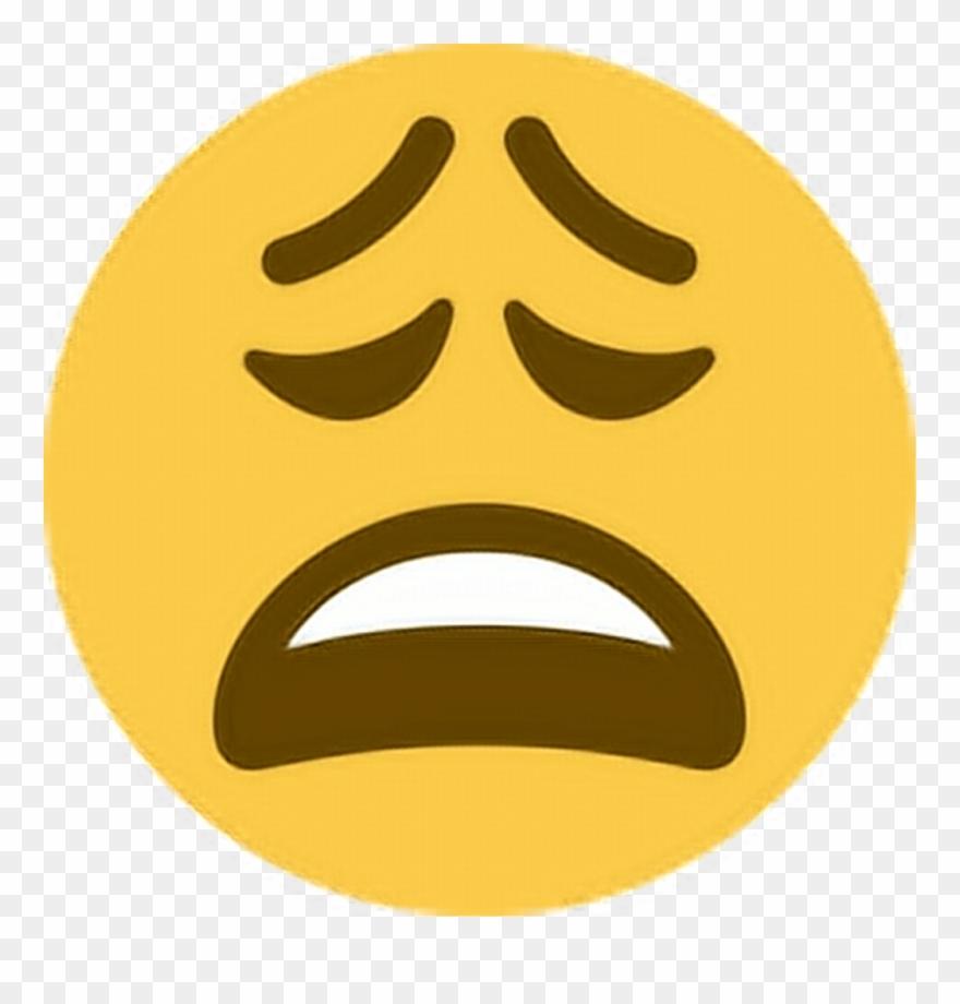 Tired Sticker - Weary Emoji Twitter Clipart (#3523631) - PinClipart