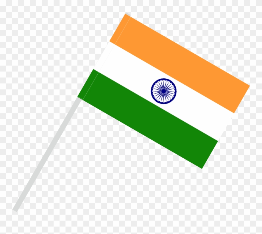 Flag With Flagpole Tunnel - Flag Of India Clipart