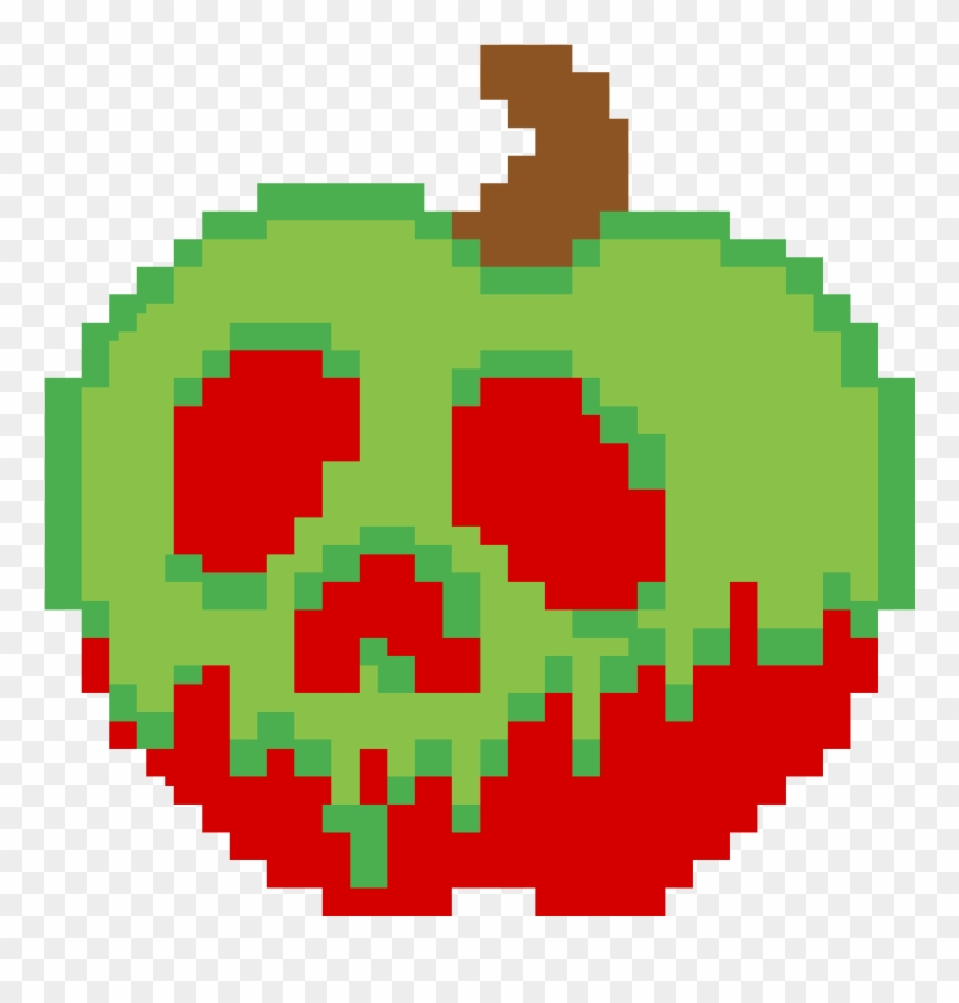 Mickey Mouse Pixel Art poison apple - deadpool logo pixel art clipart (#3568101