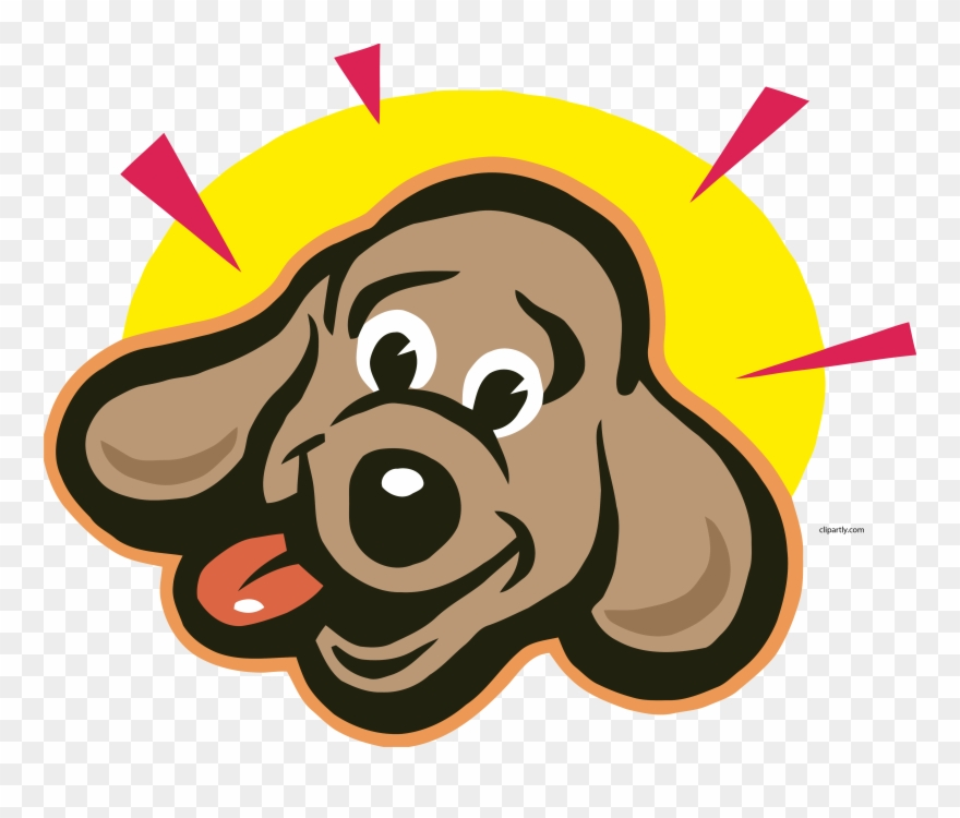 Dog happy. Bright face clipart png