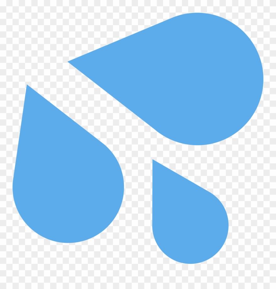 Splashing Sweat - Sweat Drops Emoji Transparent Clipart