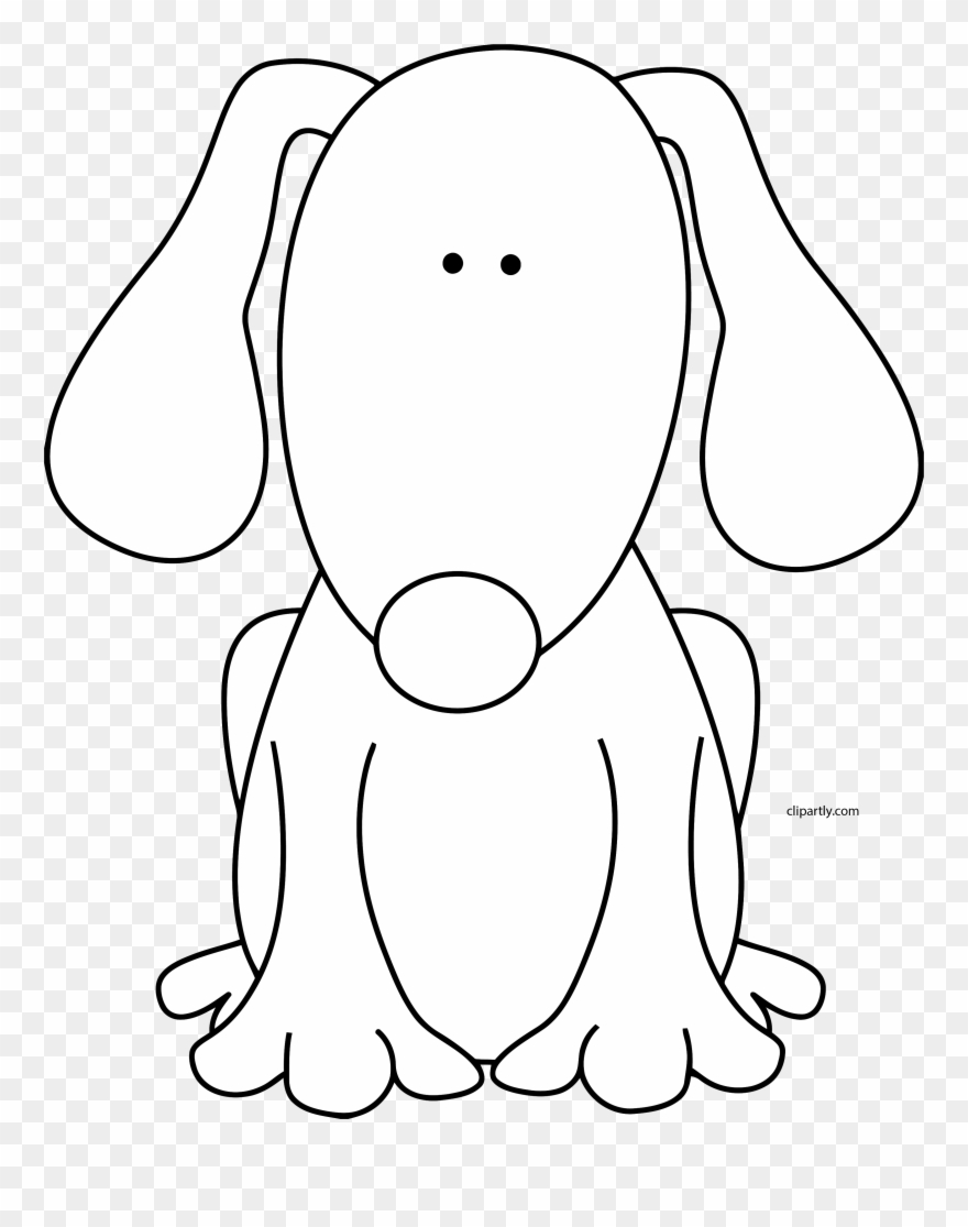 Dog Black White Clipart Png Cute Black And White Dog Clipart Transparent Png 3599409 Pinclipart