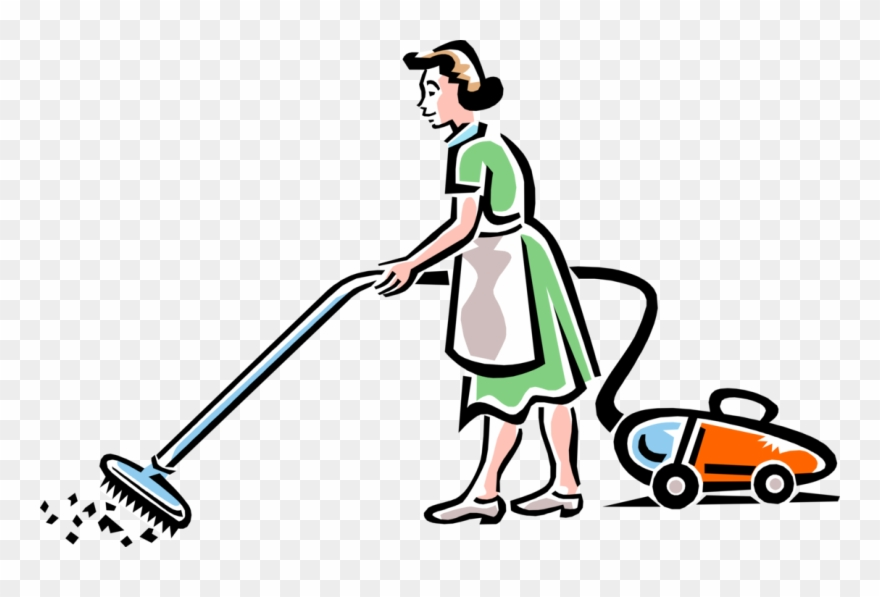 Cleaning Service Maid Image Clipart Of Vacuum Cleaner Png Download 361120 Pinclipart
