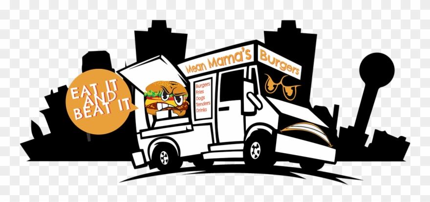 93 Burger Food Truck Clip Art - Food Truck Illustration Burger - Png Download