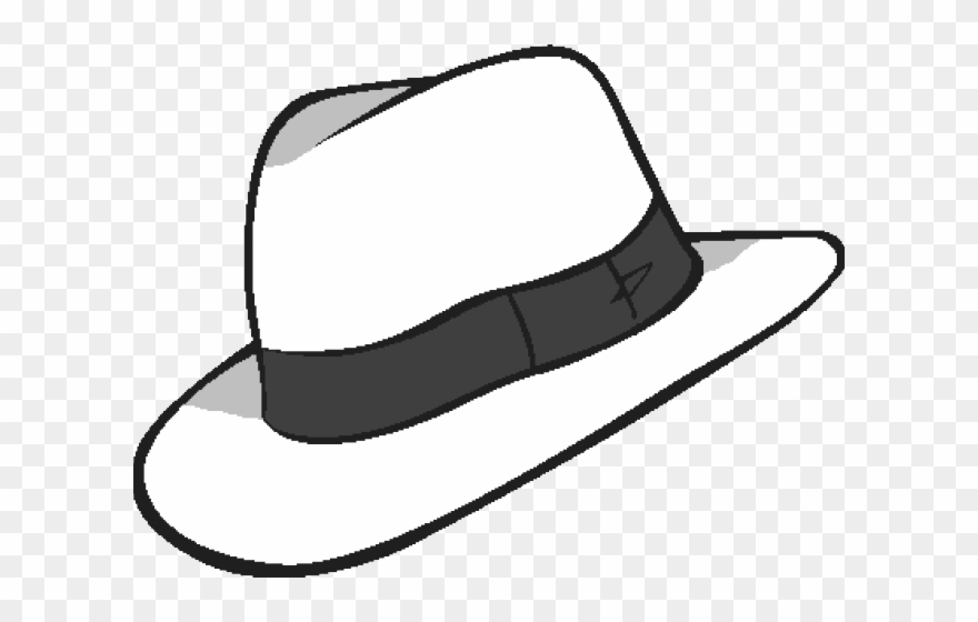 Whit Clipart Fedora White Fedora Transparent Background Png
