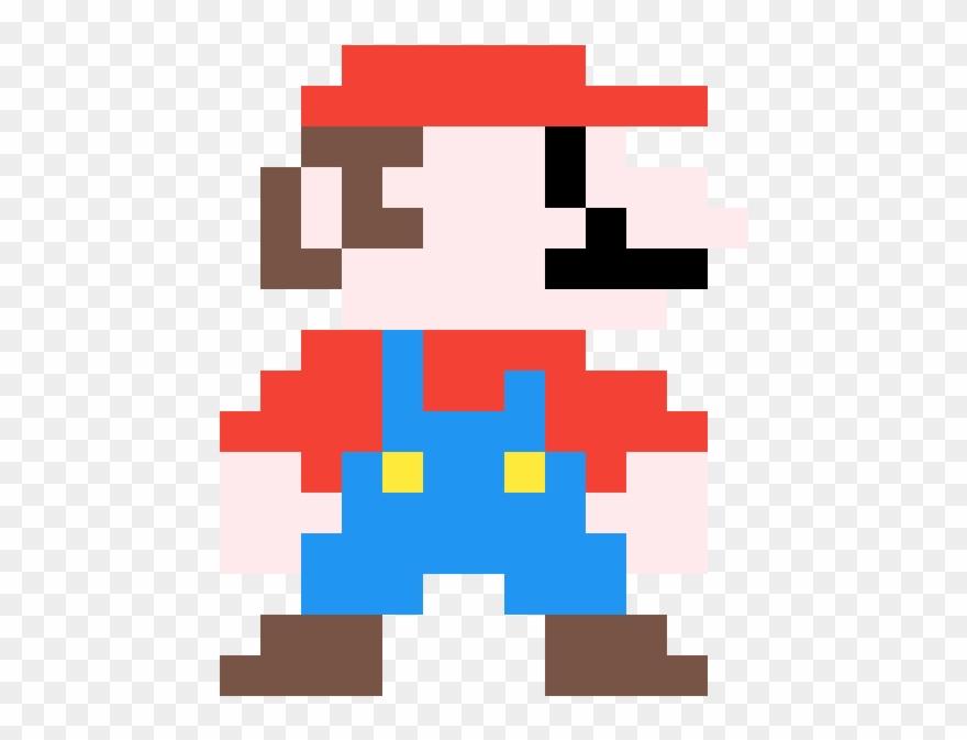 Mario Pixel Art Super Mario Bros Grid Clipart 3619294