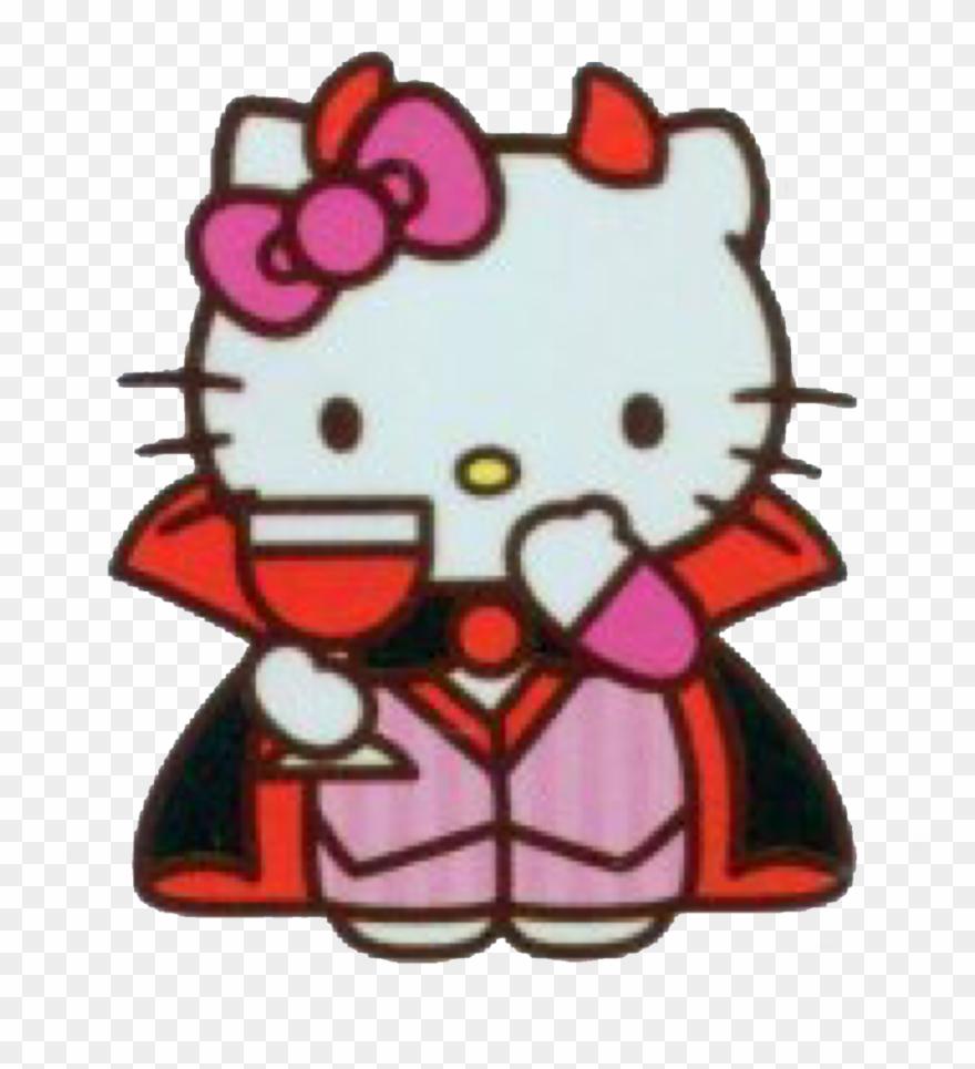 Emo scene awakening dark character gothic persona hello kitty