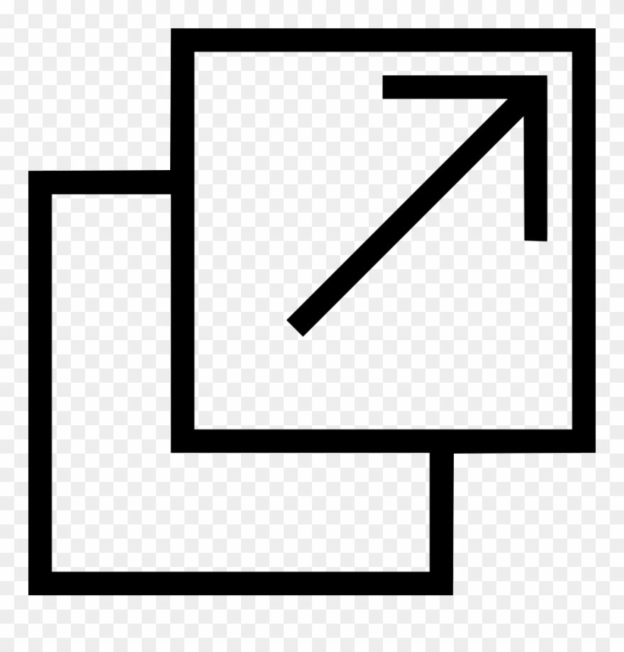 Open new. Tab window move arrow