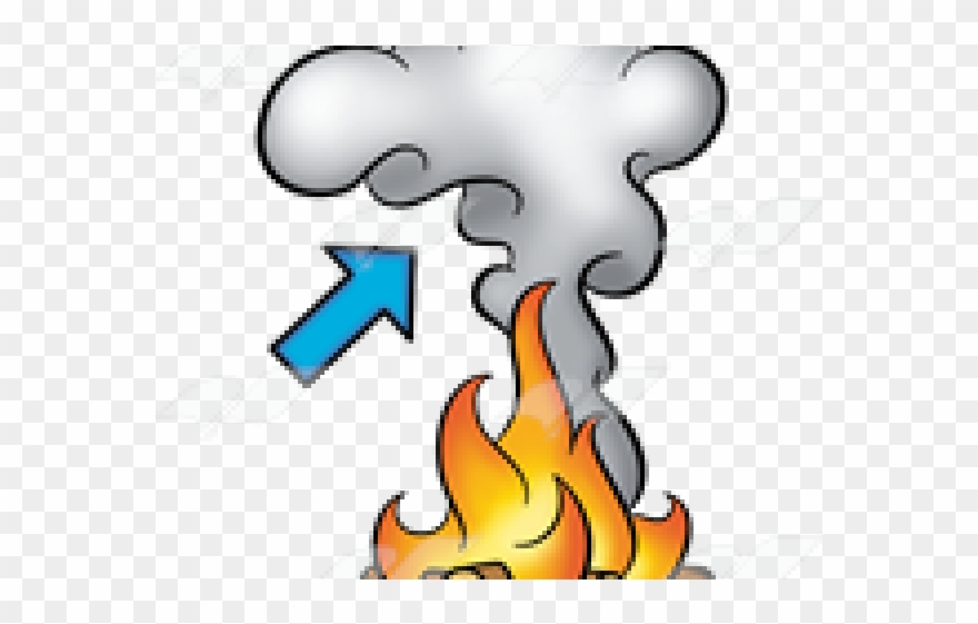 Smoke cartoon. Effect clipart fire and