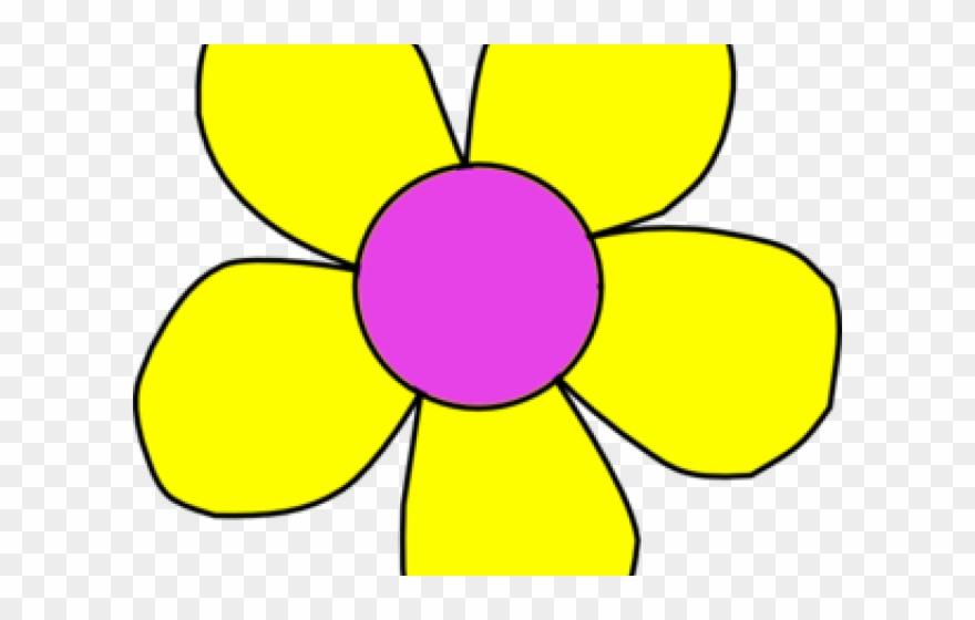 Yellow Flower Clipart August Flower Cartoon Yellow Flower