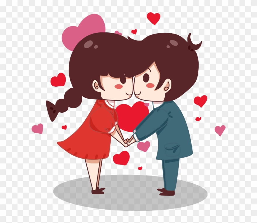 Couple Valentines Day Cartoon Clipart 3643804 Pinclipart