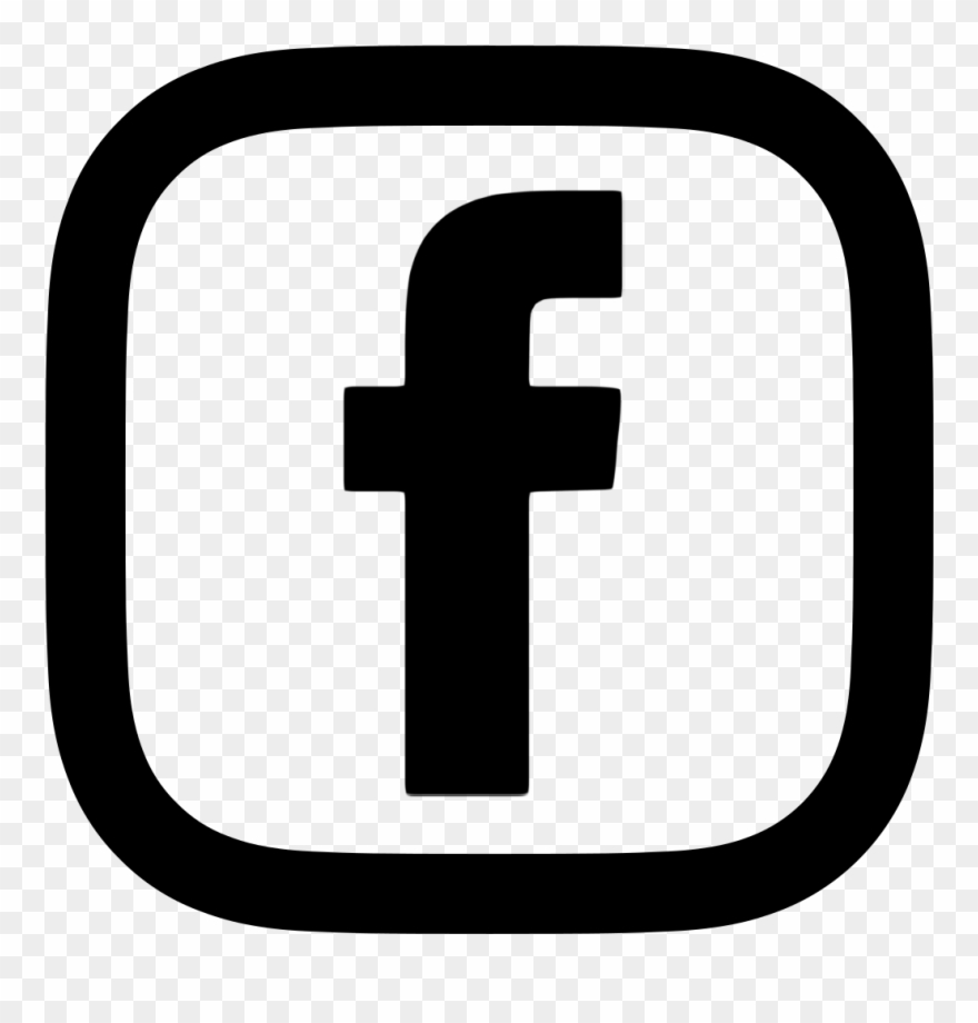Facebook Logo Red Transparent - Fb Icon White Png Clipart
