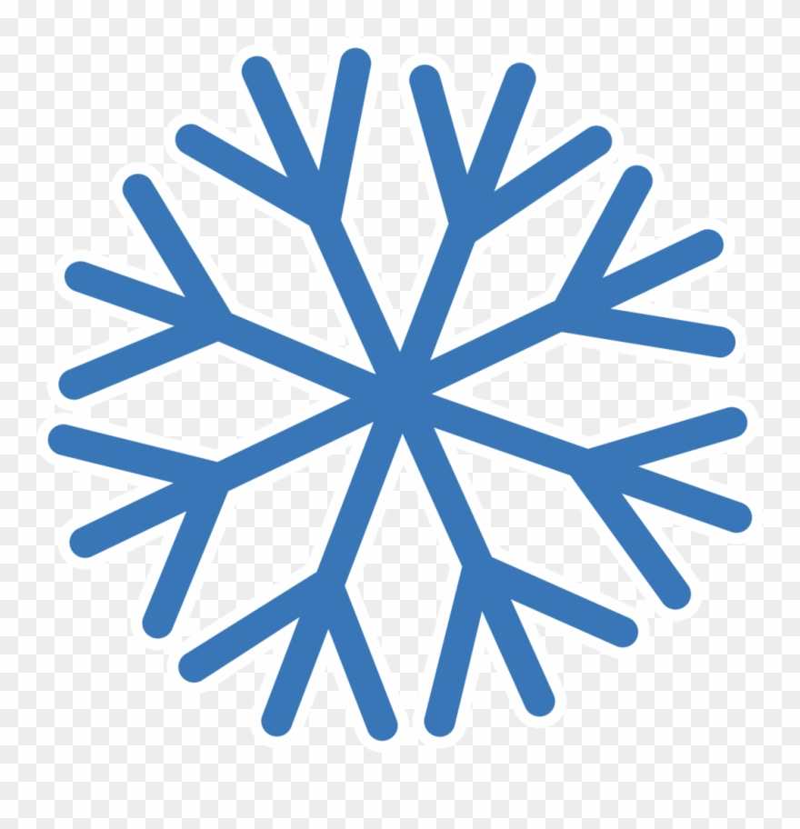 Snowflake With Transparent Background - Simple Snowflake