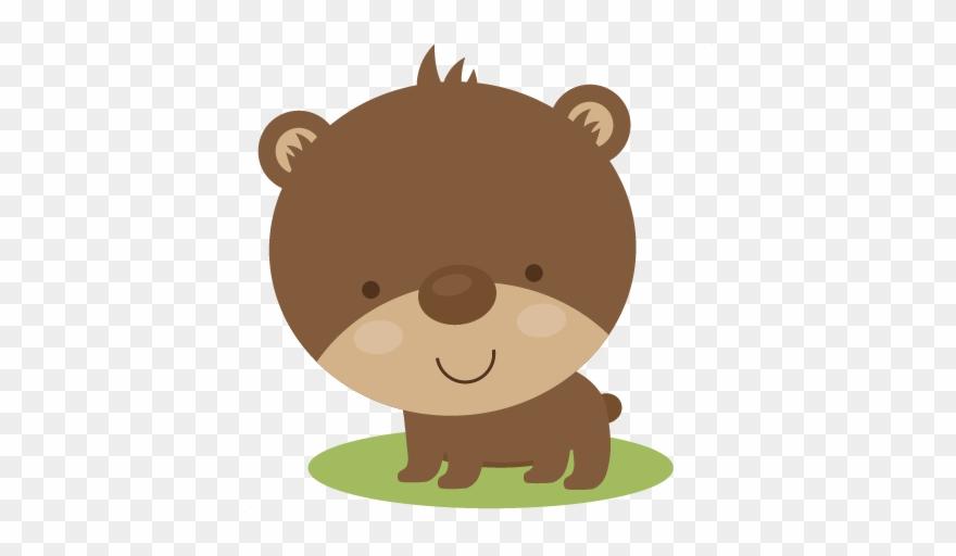 Bear woodland. Cute svg scrapbook file
