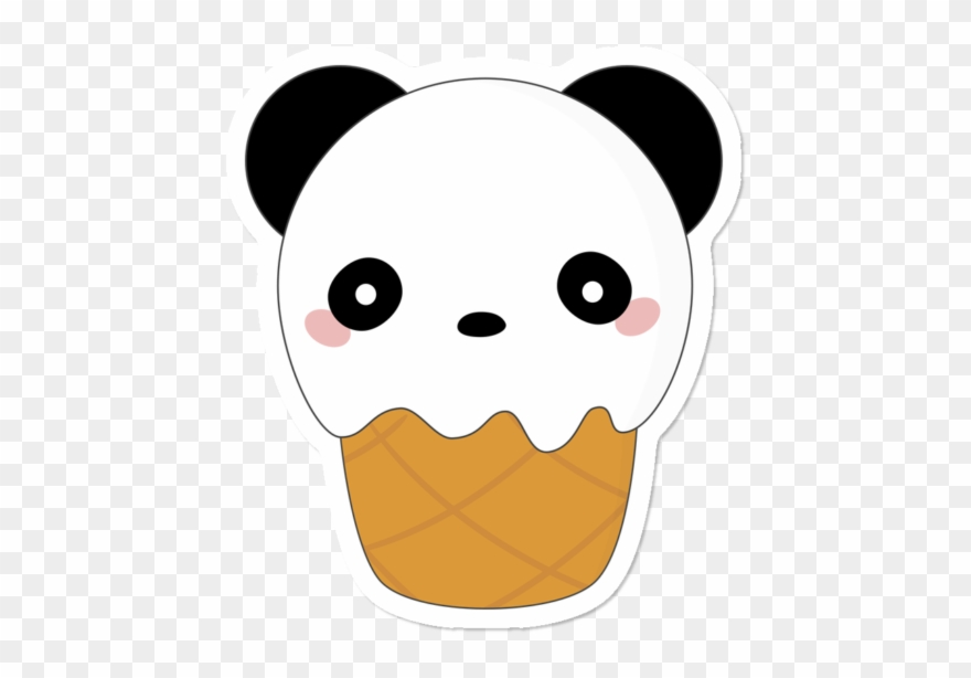 Kawaii Cute Panda Bear Ice Cream Kawaii Cute Panda Clipart