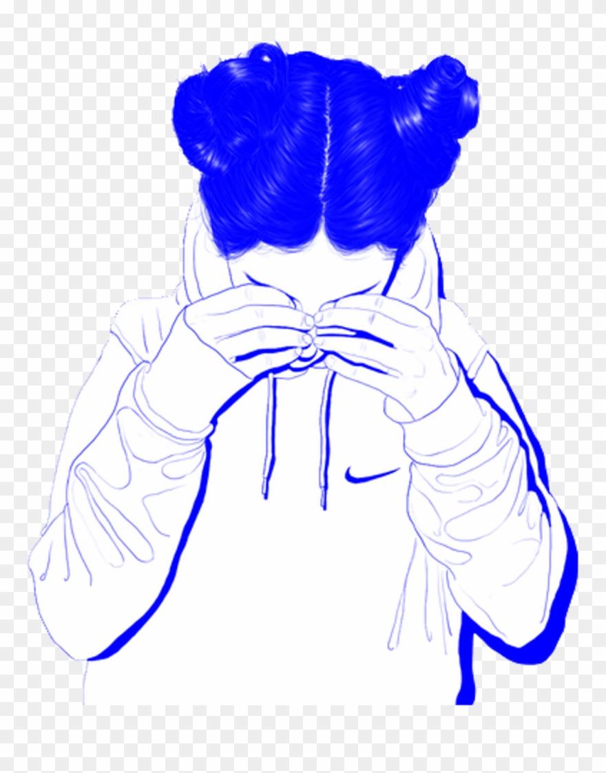 Tumblr Girl Aesthetic Blue Sad Vaporwave Cute Blue Aesthetic Human Png Clipart 3663801 Pinclipart