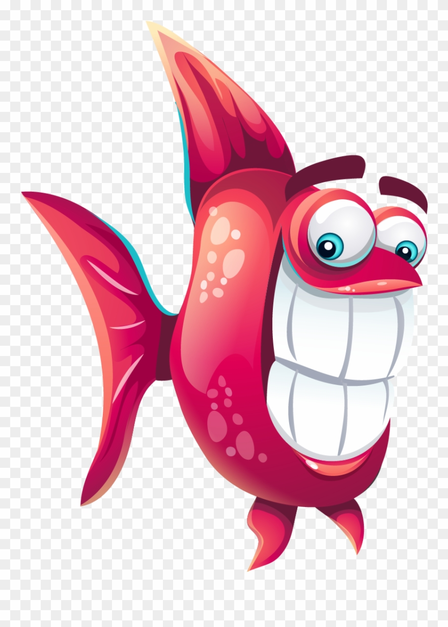 Funny Cartoon Fish Cute Fish Png Clipart 3669513 Pinclipart