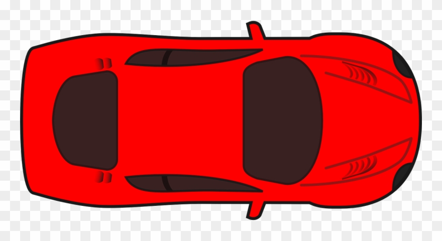 Car Red Vehicle Car Top View Clipart Png Download 3675233