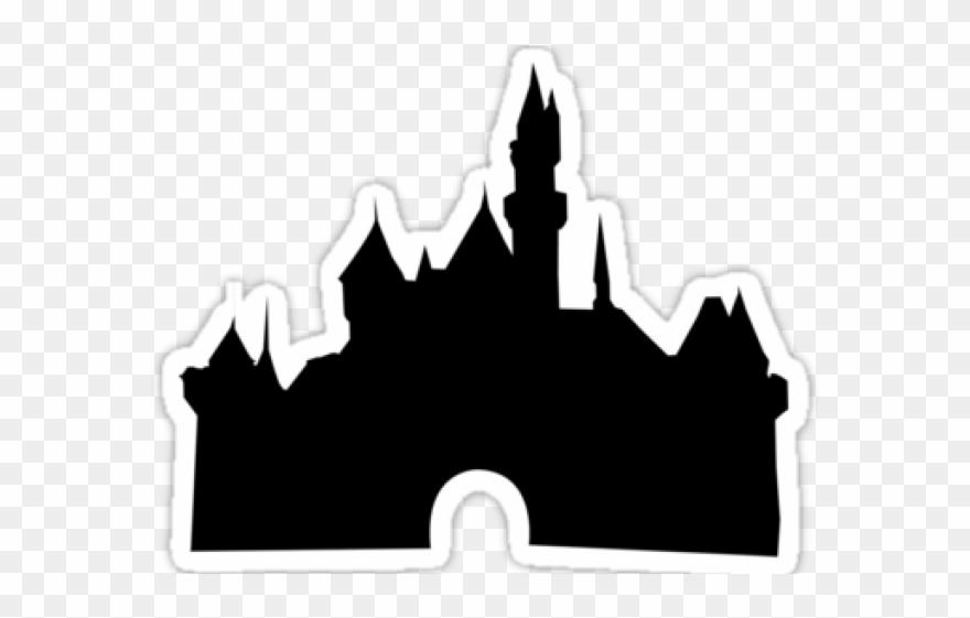 Disney castle sleeping beauty silhouette. Clipart shadow walt