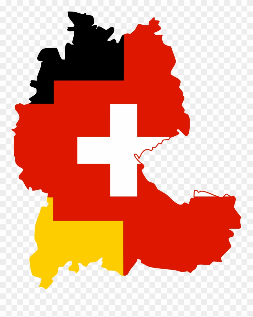 Flag-map Of The German Language - Traben Trarbach Map Germany ...