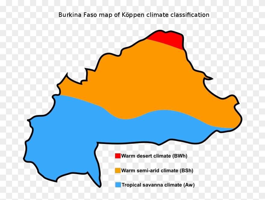 Burkina Faso Map Of Köppen Climate Clification - Burkina Faso ... on political map, mediterranean climate map, canada climate map, italy climate map, california climate map, climate marine west coast map, tropical rainforest climate map, saudi arabia climate map, desert climate map, u.s. climate map, midwest climate map, florida climate map, climate zone map, greenland map, australia's climate map, continental climate map, climate classification map, relief map, world climate map, trewartha climate map,