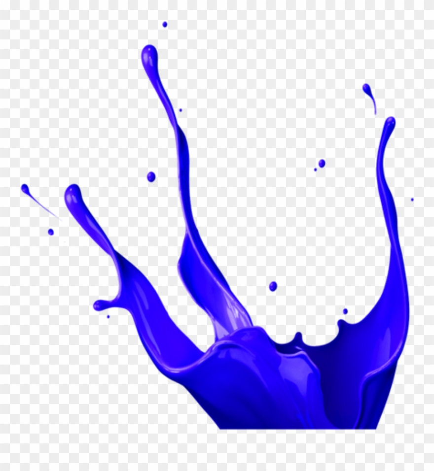 Paint Painter Paints Painting Bluecolor Color Ink Blue Purple Splash Png Clipart