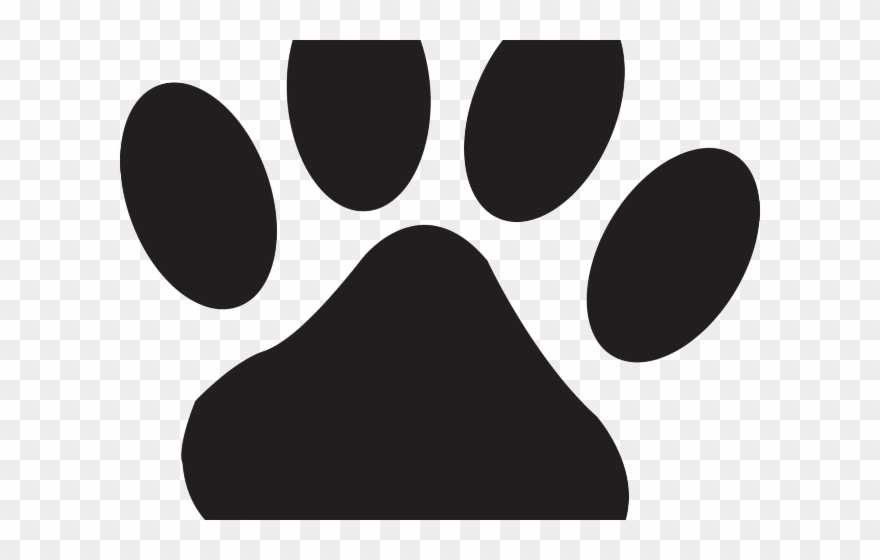 Husky Clipart Bear Paw - Cat Paw Print Small - Png Download