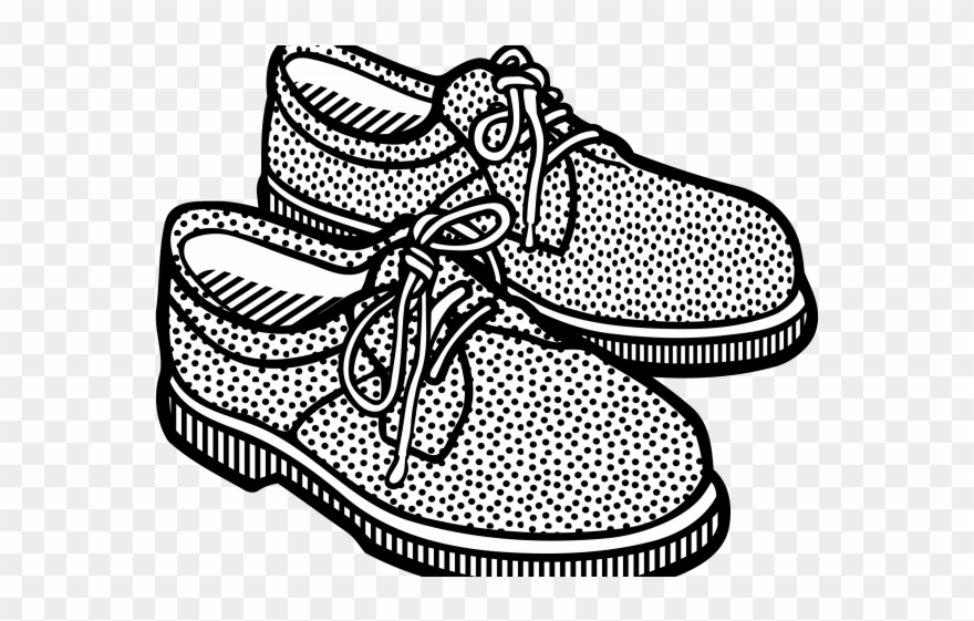 b9dd710fb76 Gym Shoes Clipart Girl Shoe - Shoe Clipart Black And White Png Transparent  Png