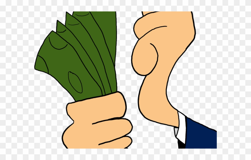 Animated money. Clipart counter hand in