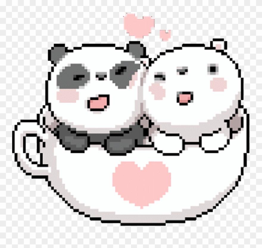 Panda Kawaii Icebear Friends Bears Pixel Pixelart Gif De