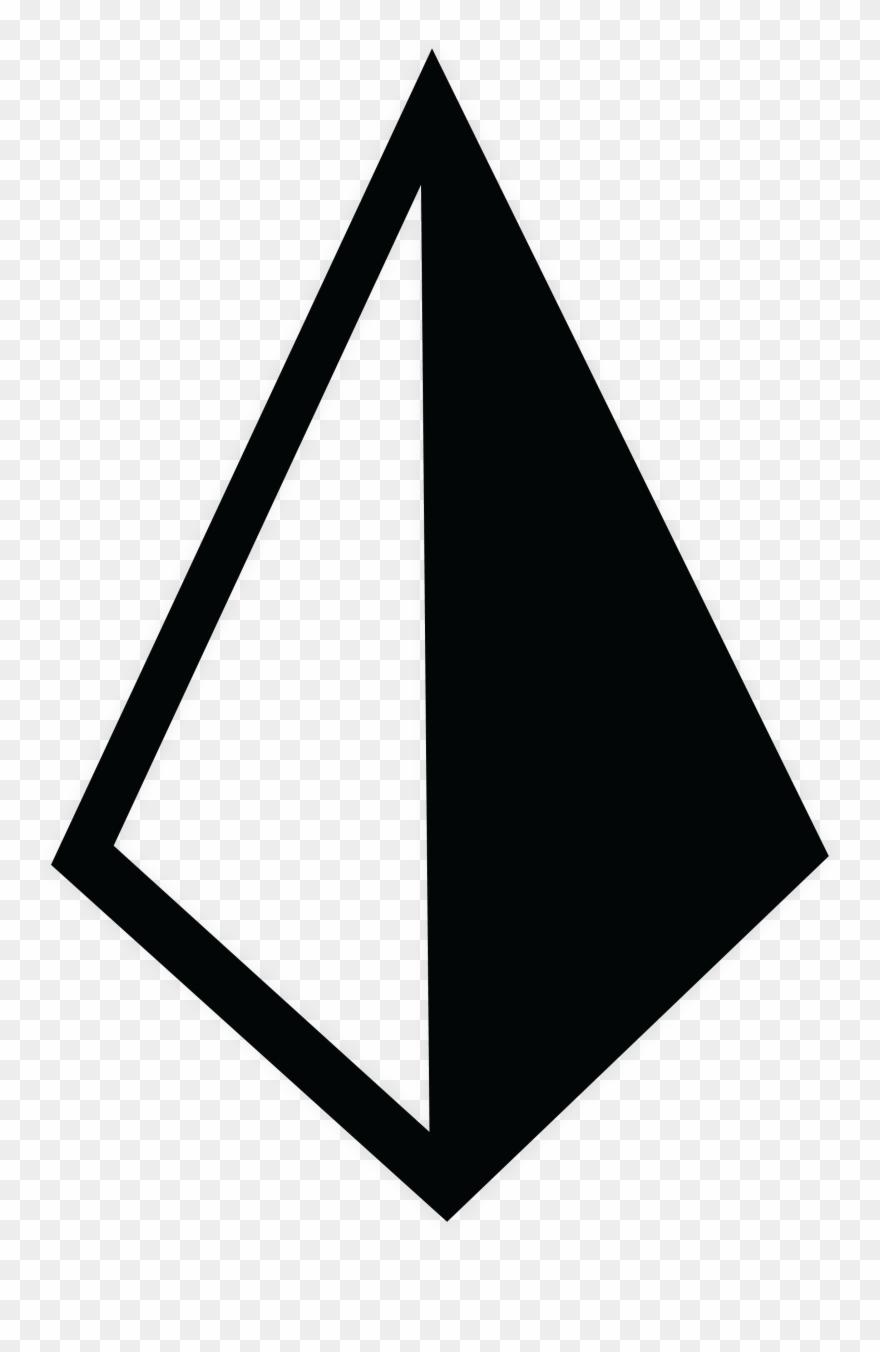 Diamond black. Gwntc triangle clipart pinclipart