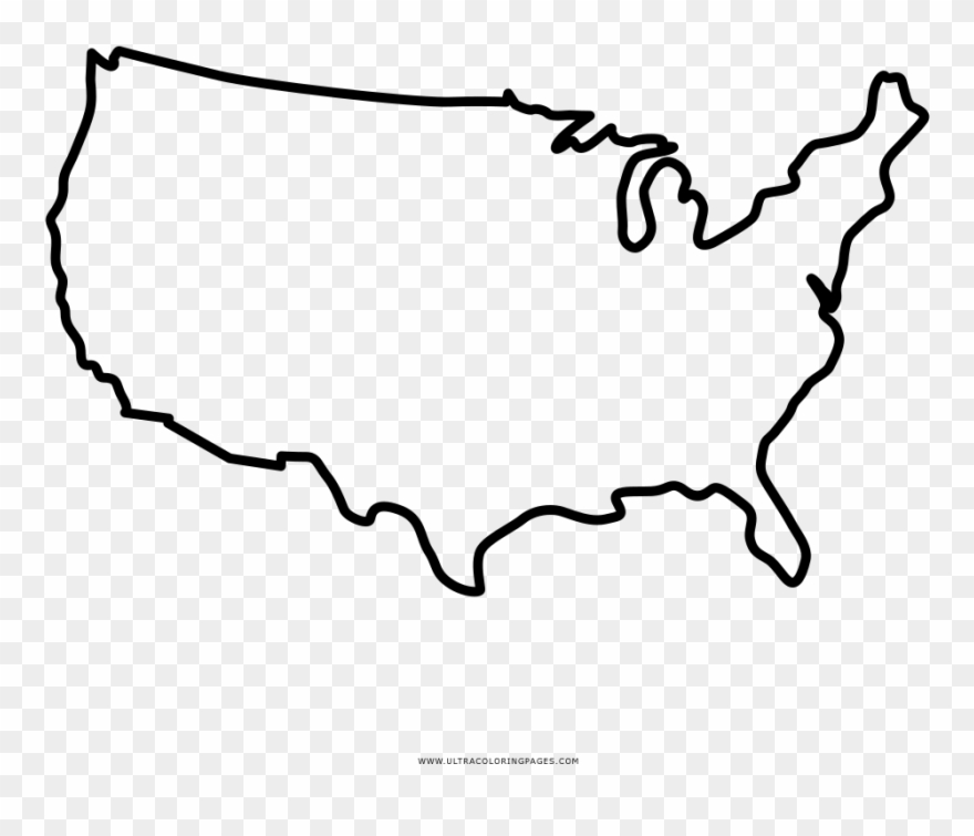 North America Coloring Page Uk Us