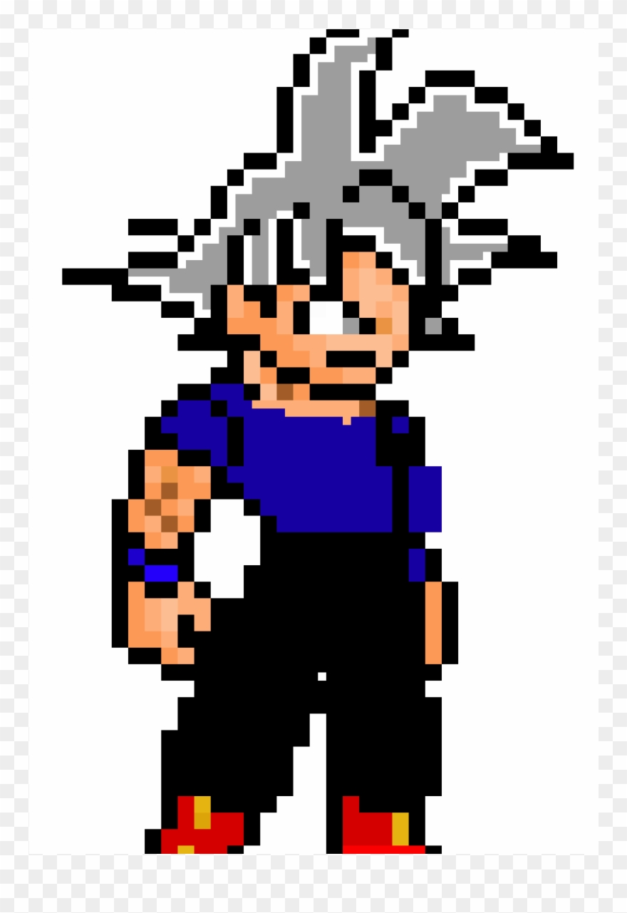 Ultra Instinct Mark Pixel Art Goku Ultra Instinto Clipart