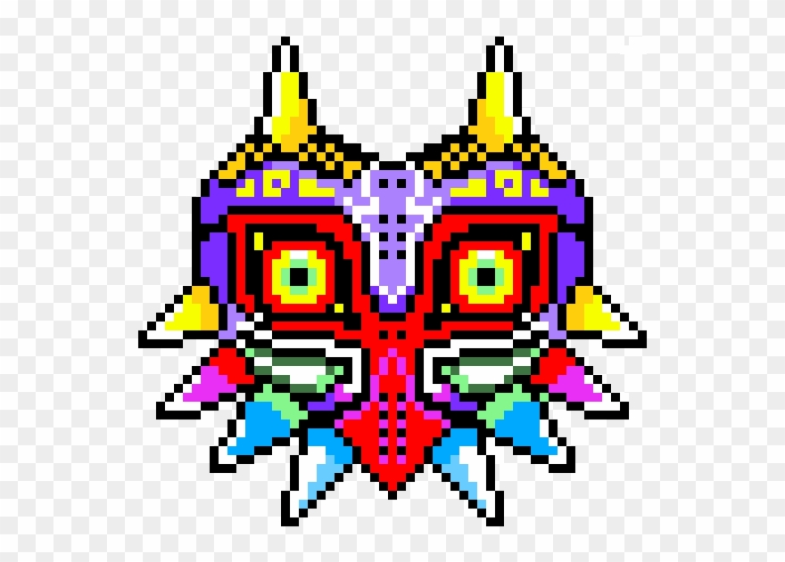 graphic regarding Minecraft Masks Printable referred to as Skull Children Mask/content Mask - Majoras Mask Minecraft Pixel