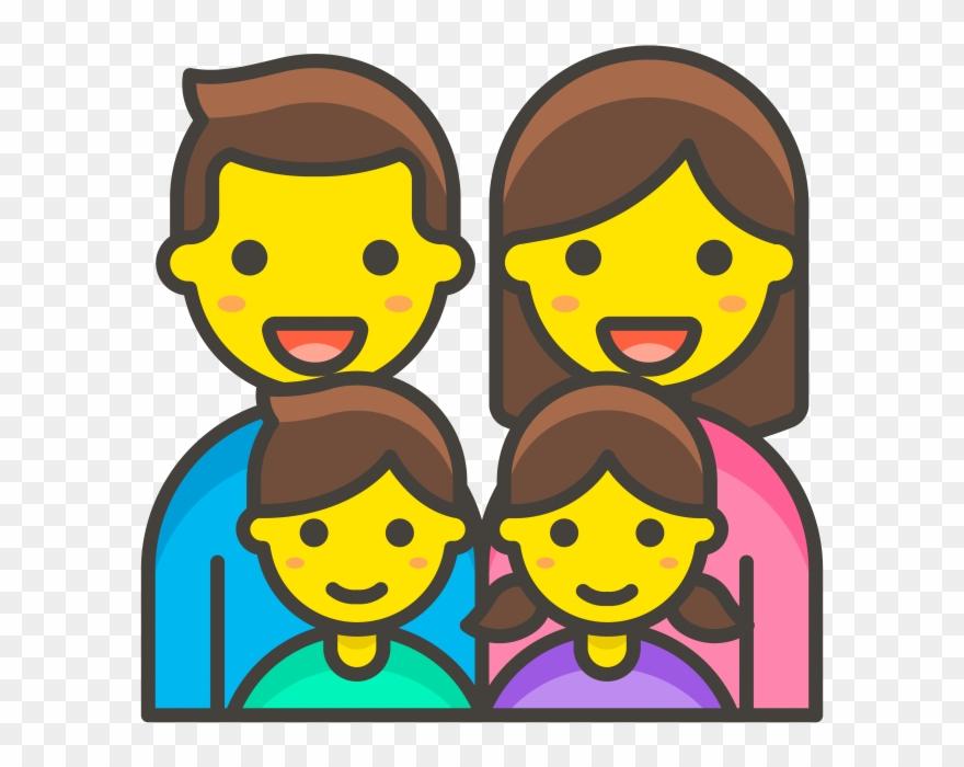 Family Man Woman Girl Boy Emoji Emoji Famille Clipart 3746327 Pinclipart