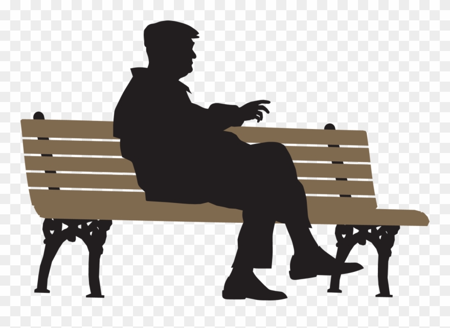 Lonely Bench Clip Art