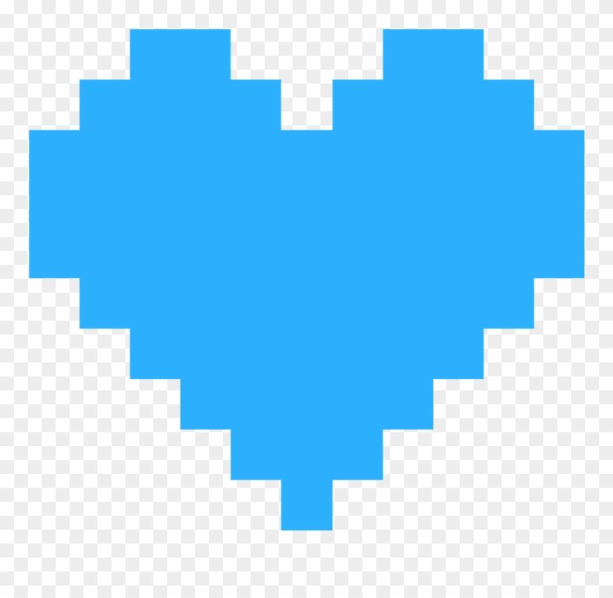 Heart Blue Free Download Pixel Heart Png Transparent Clipart 3764692 Pinclipart