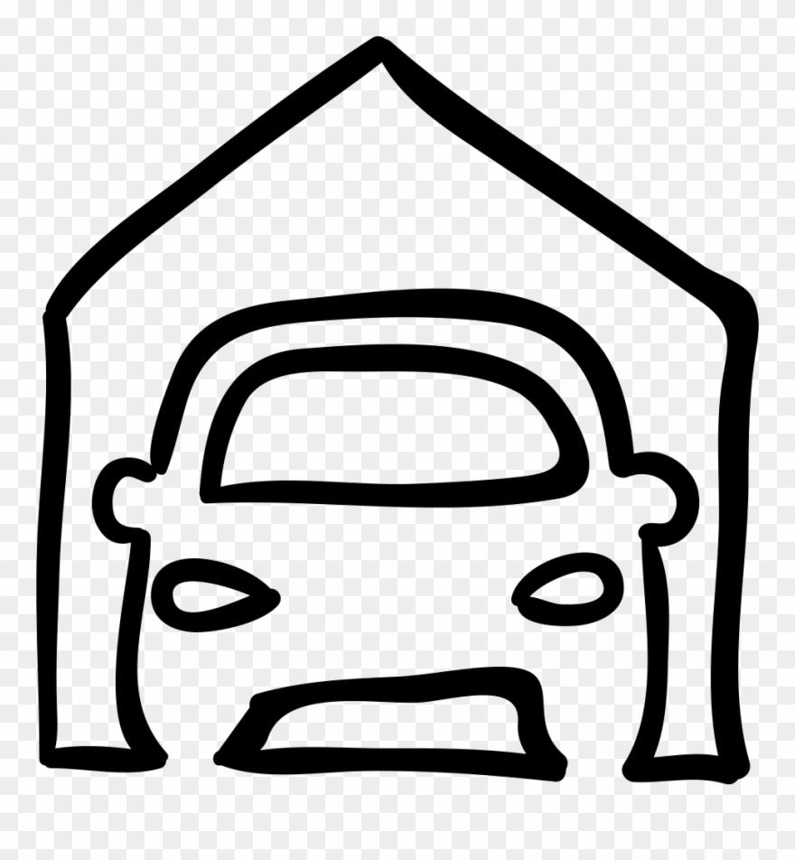 Car Outline Png Carro Na Garagem Desenho Clipart 3767179