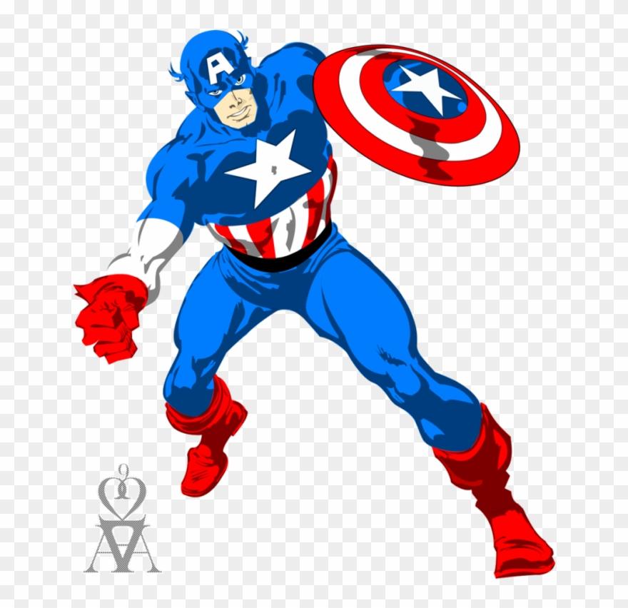 Captain America Vector Png - Capitan America Vector Free Download