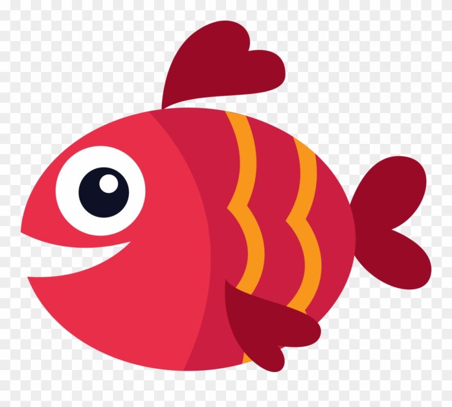 Fish red. Fresh clip art graphic