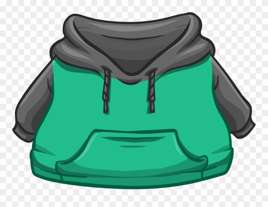 Black And Green Two-tone Hoodie - Club Penguin White Clothes