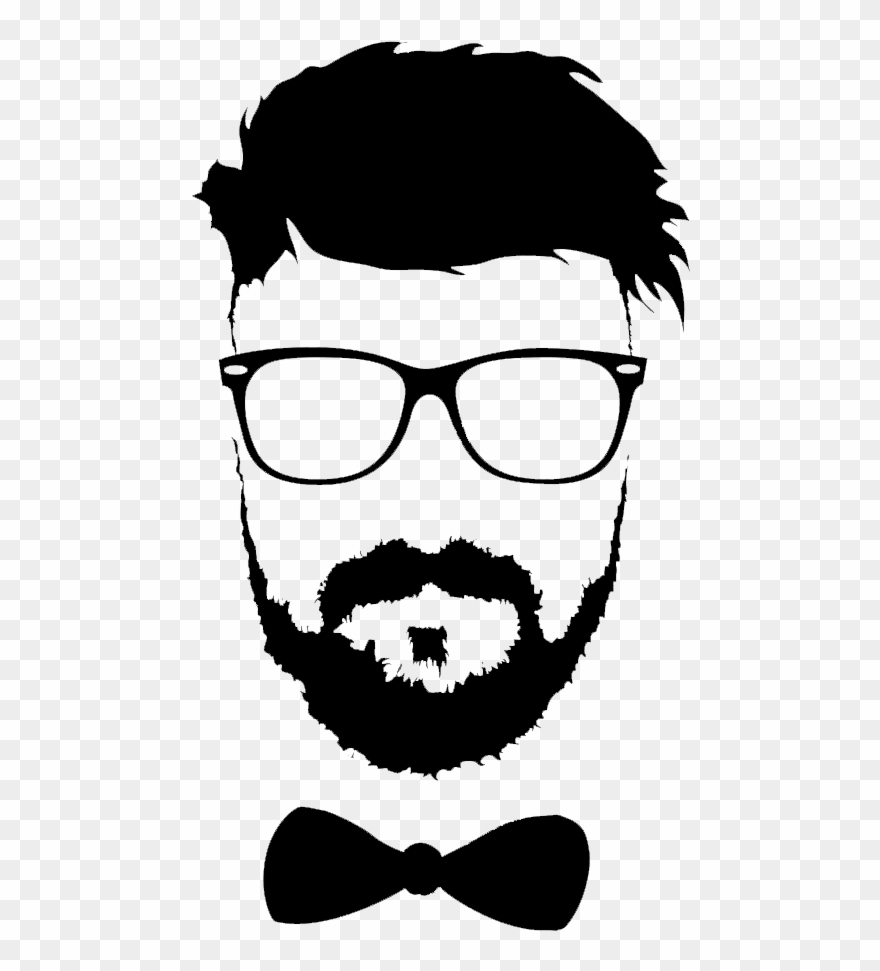 Beard realistic. Hairstyle moustache glasses png
