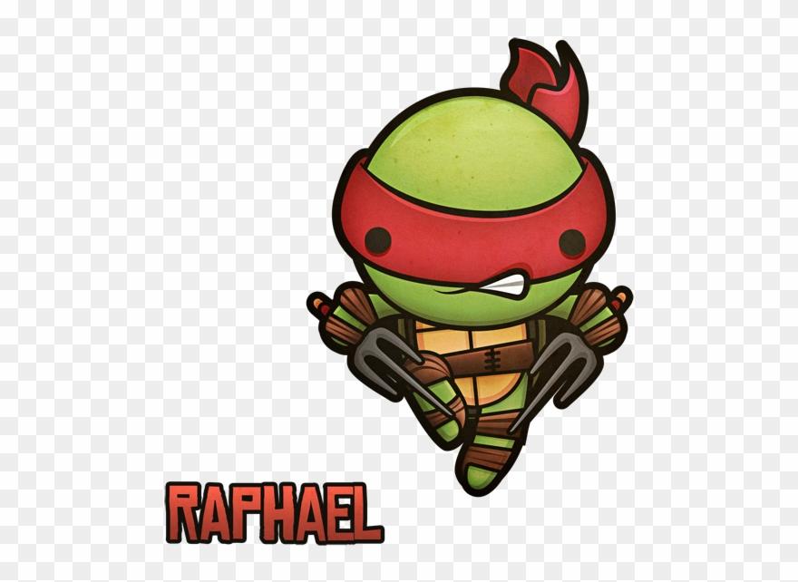 Kawaii Mutant Ninja Turtles By Squid Via Behance Raphael Ninja Turtle Cute Clipart Full Size Clipart 3779859 Pinclipart