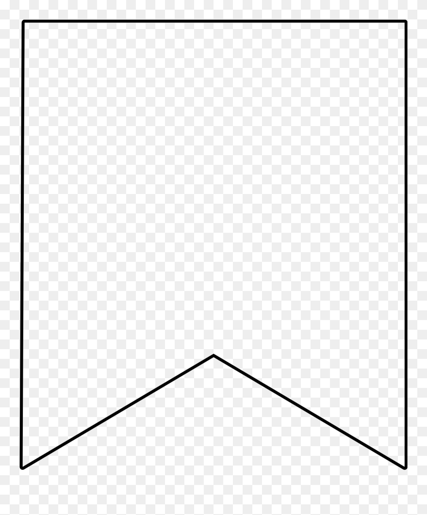 Flag template. White banner transparent image