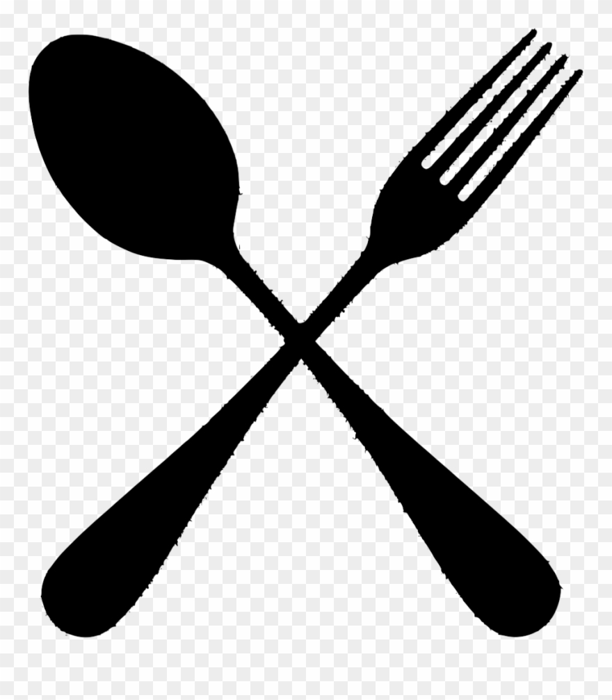 The Gallery For > Spoon And Fork Png - Silhouette Spoon And Fork Png Clipart