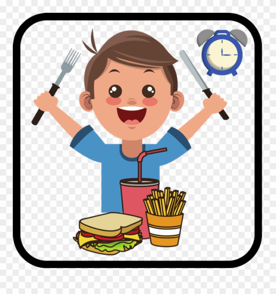 Daily Routines Eat Healthy Food Cartoon Clipart 3788545 Pinclipart